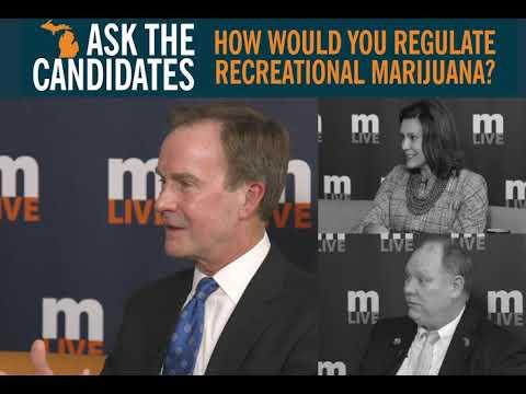 Governor candidates on legal marijuana in Michigan