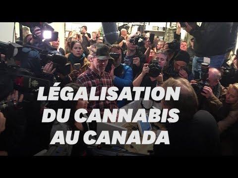 Légalisation du cannabis: Les images des premiers clients canadiens
