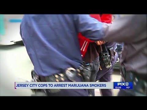 Jersey City cops to arrest marijuana smokers