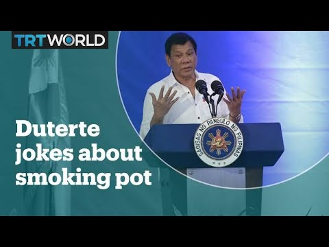 Philippines president jokes about smoking marijuana