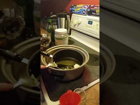 D.I.Y Cannabis pain salve recipe. At Home tutorial.