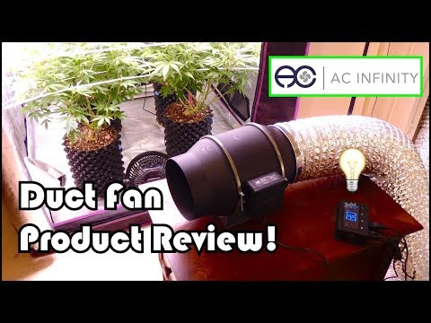 High Tech Ducting Fan for Growing Cannabis:  AC Infinity Cloudline T6