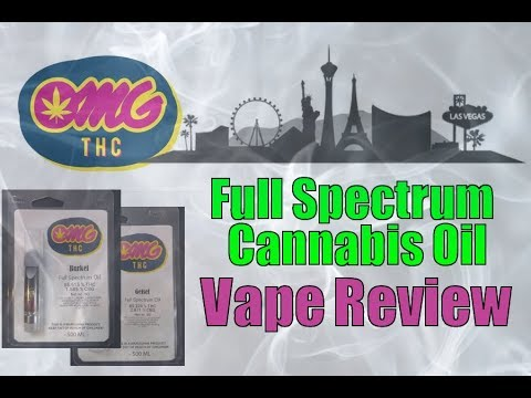 OMG THC Vape Cartridge review | Full Spectrum Cannabis Oil | Las Vegas marijuana concentrates