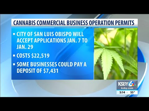 City of SLO to accept cannabis business applications
