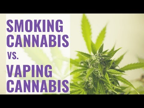 How to Smoke Cannabis vs Vaping Cannabis