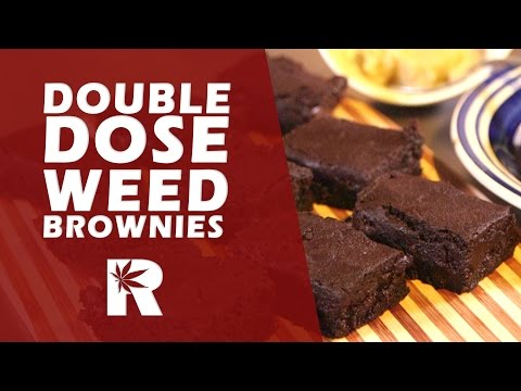 Double Dose Chocolate Marijuana Brownies (Strong Weed Brownies): Cannabasics #48