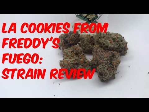 LA Cookies from Freddy's Fuego Cannabis Marijuana Weed Strain Review