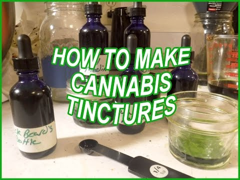 How to make Cannabis Tinctures – Blackbeard's Bottle & Funky Cold Medina