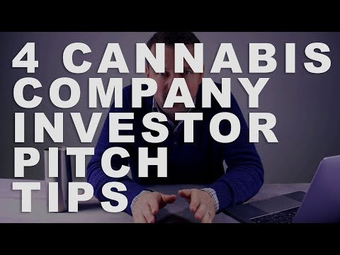 Cannabis business || 4 Investor pitch deck tips