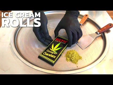 Weed Ice Cream Rolls | with HEMP Cannabis Marijuana Cnusper Chocolate – no smoke weed | satisfying
